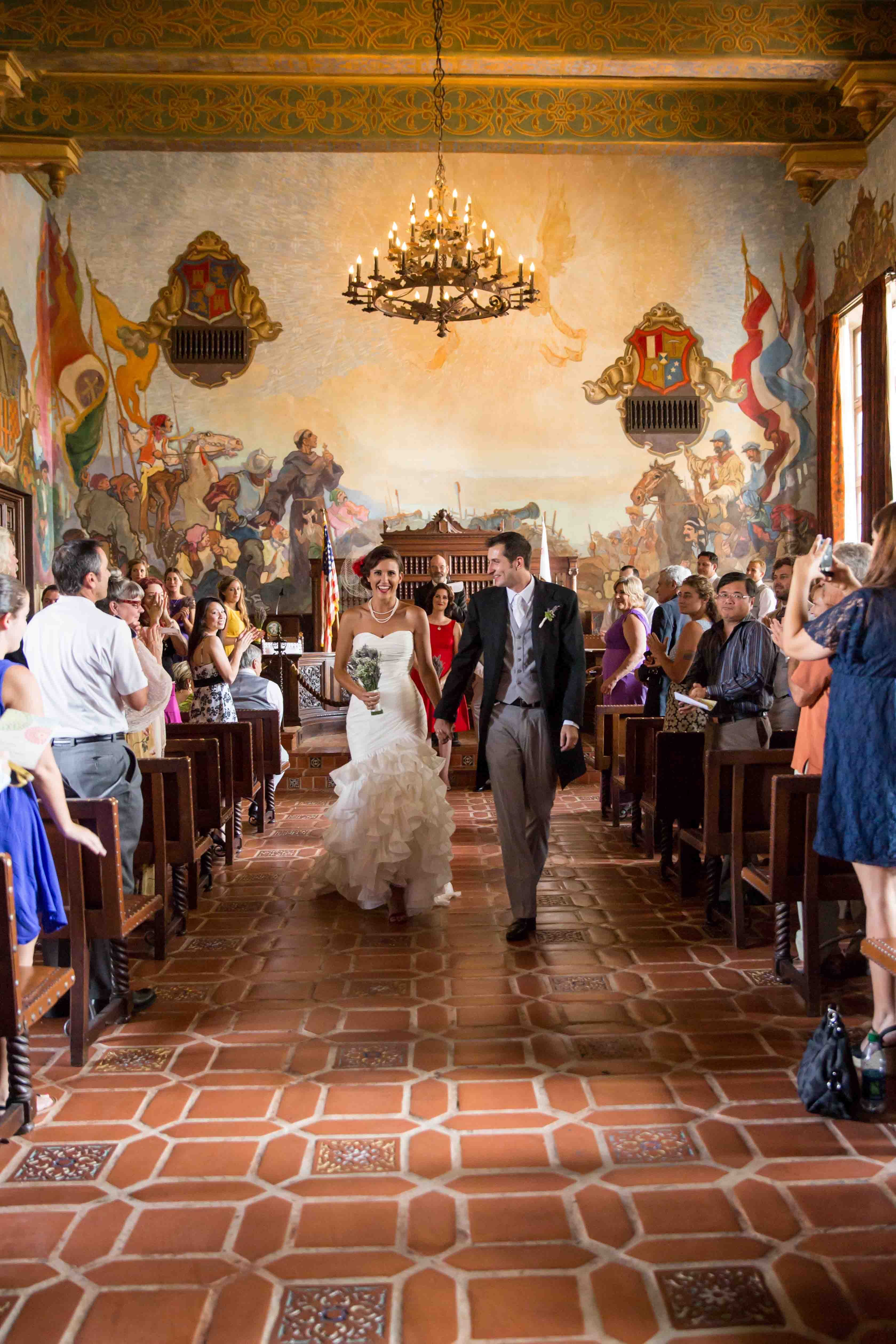 Santa barbara courthouse mural room wedding karen d for Mural room santa barbara courthouse