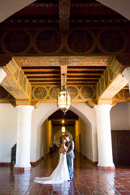 Santa barbara courthouse mural room wedding andrea robert for Mural room santa barbara courthouse