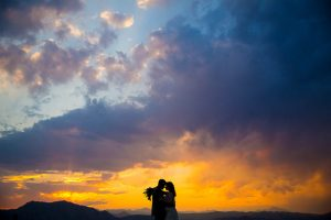Amazing bride and groom sunset photos in Boulder, Colorado.