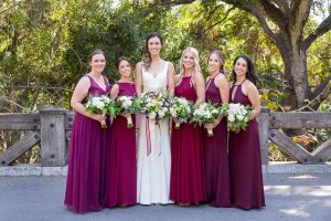 Bridal party portraits the a Glen Annie Golf Club wedding in Santa Barbara, CA.
