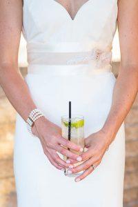 Bride and groom's sunset photos at Glen Annie Golf Club in Goleta, CA.