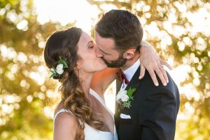 Bride and groom's sunset photos at Glen Annie Golf Club in Goleta, CA.