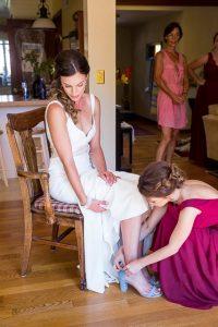 Wedding details as bride gets ready in Santa Barbara, CA.