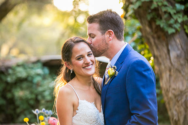Bride and groom sunset photos at The Ranch House Ojai wedding.
