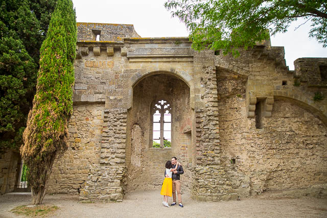Engagement photographs captured in Carcassonne France by destination wedding photographer, Karen D Photography.