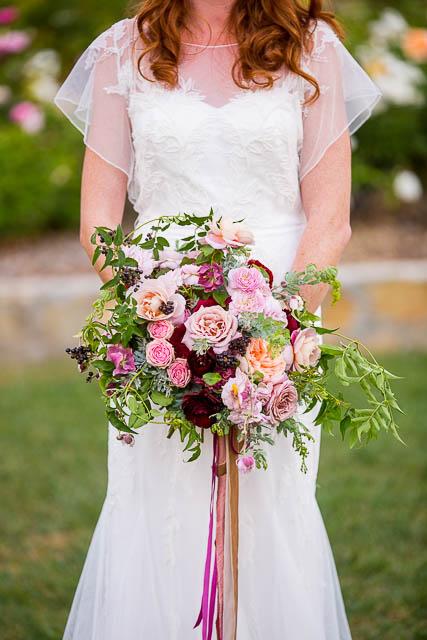 Large flowy wedding bouquet