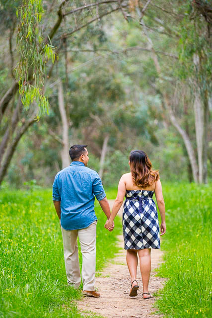 Couple walking at Coronado Butterfly Preserve.