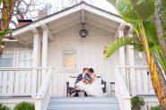 Belmond El Encanto bride and groom sunset photos.