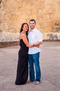Engagement photos at the Castillo San Cristobal in Old San Juan, Puerto Rico.