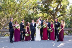 Bridal party portraits the a Glen Annie Golf Club wedding in Santa Barbara, CA.