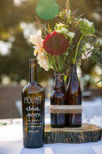 Wedding reception details at the Glen Annie Golf Club in Santa Barbara, CA.