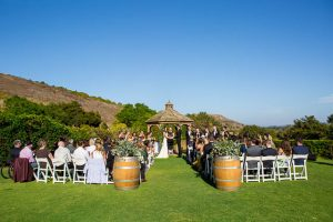 Wedding ceremony at the Glen Annie Golf Club in Santa Barbara, CA.