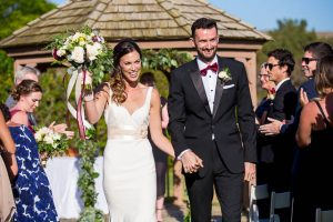 Wedding ceremony at the Glen Annie Golf Club in Santa Barbara, CA.