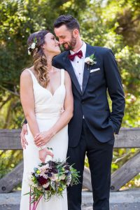 Bride and groom's first look at the Santa Barbara Glen Annie Golf Club.
