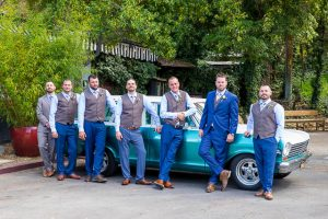 Groom and groomsmen at The Ranch House Ojai wedding.