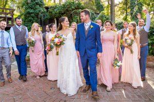 Bridal party photos at The Ranch House Ojai wedding.