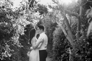 Candid photos of Bride and groom during their Santa Barbara engagement photoshoot.
