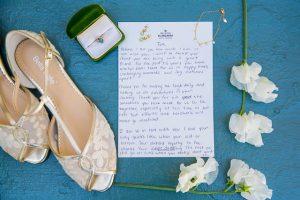 Wedding details at the Oak Tree Suite at Belmond El Encanto wedding.