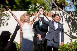 Belmond El Encanto Oak Tree Suite intimate wedding ceremony set up.