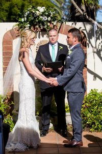 Belmond El Encanto wedding ceremony set up.