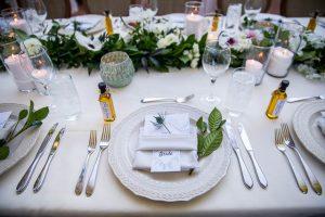 Wedding reception details at the Oak Tree Suite at the Belmond El Encanto Wedding in Santa Barbara, California.
