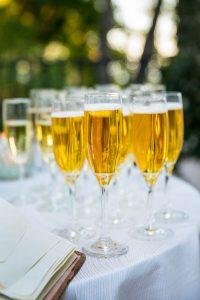 Belmond El Encanto Hotel wedding reception.