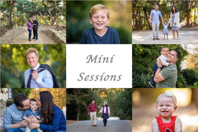 Santa Barbara mini photography family sessions