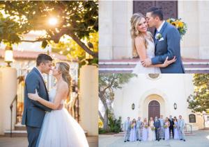 Unitarian Society of Santa Barbara wedding photos.