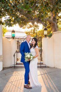 Wedding photos at the Unitarian Society of Santa Barbara.