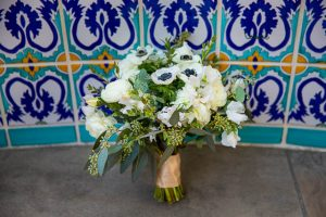 Wedding bouquet for Santa Barbara Courthouse elopement.