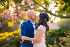 Wedding couple after their Santa Barbara covid elopement.