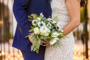 Wedding bouquet for Santa Barbara Courthouse wedding.